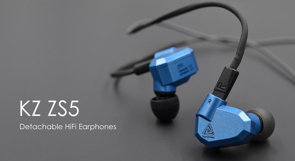 Kz zs5 detachable hifi earphones - beats earphones powerbeats