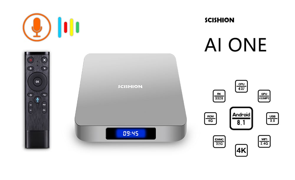 Scishion Ai One Android Tv Box Best Smart Android Tv Box Of 2019