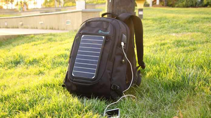 SunPack: A backpack with removable solar charger