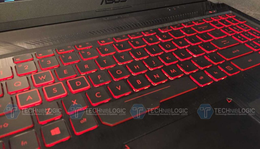 Asus-TUF-FX504-Keyboard-and-touchpad