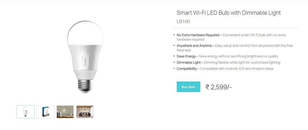 TP-Link Smart Bulb LB100 Techniblogic