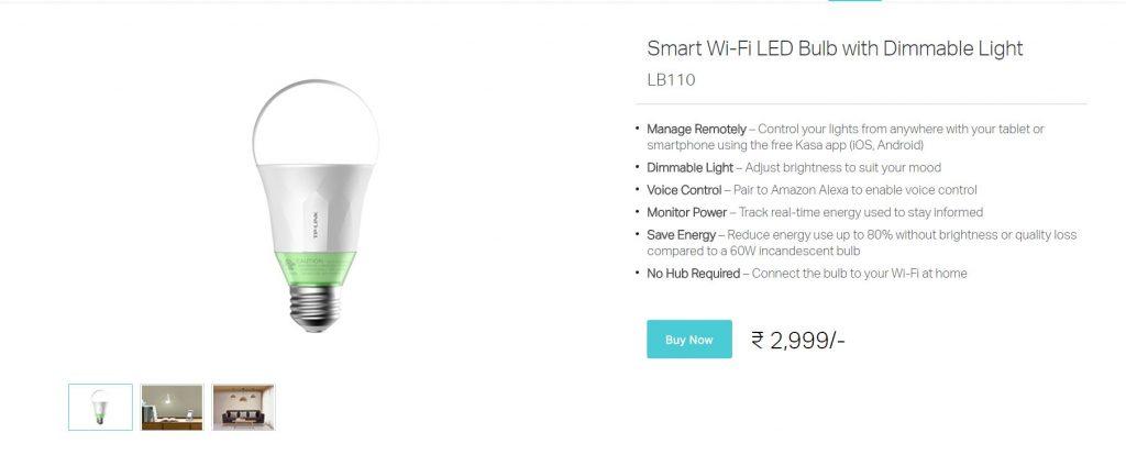 TP-Link Smart Bulb LB110 Techniblogic