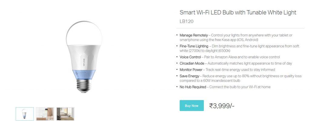 TP-Link Smart Bulb LB120 Techniblogic