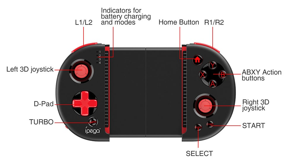 iPEGA PG - 9087 Best Game Controller For Android Phone