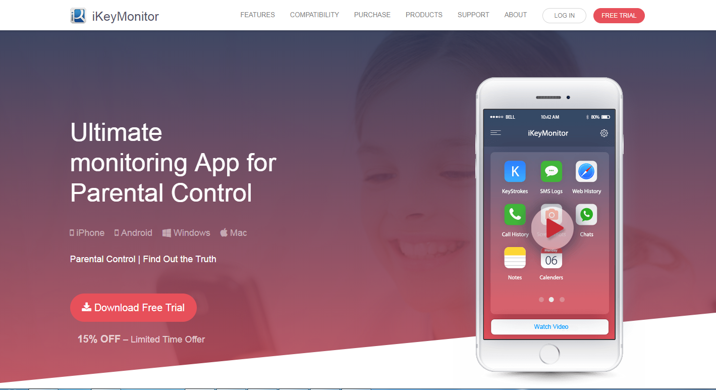 best free parental control app for iphone ikeymonitor the best iphone app for parental 19681