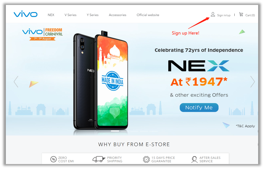 10 Tips to get the Vivo Nex in 1947 INR 1