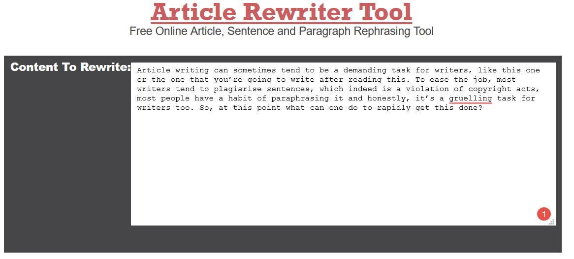 Spinbot.com - Article Spinning, Text Rewriting, Content Creation Tool.