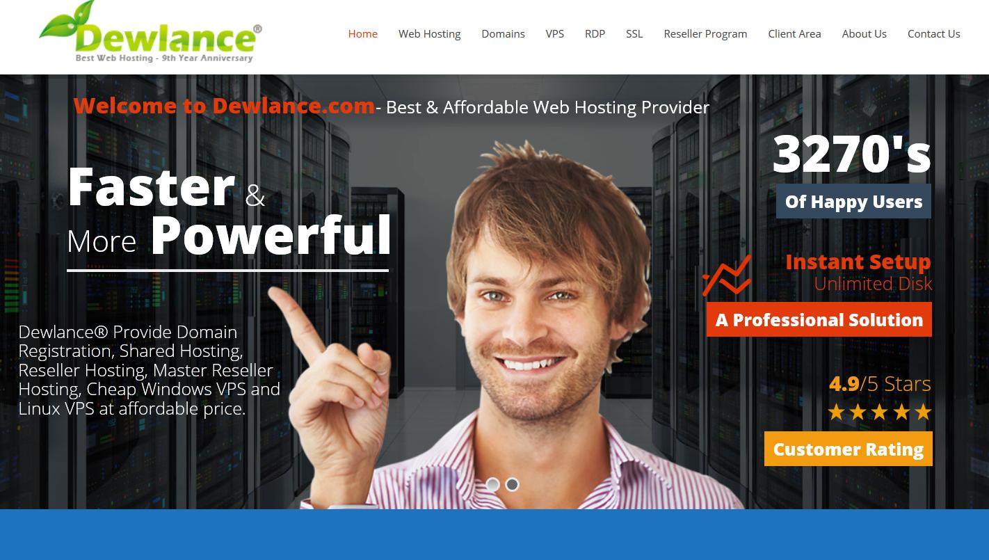 Dewlance® Best Web Hosting Reseller Hosting and Linux VPS