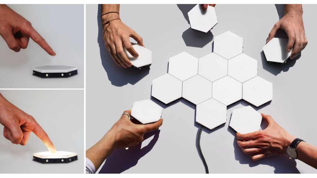 Helios Touch Modular Lighting System For Your Wall