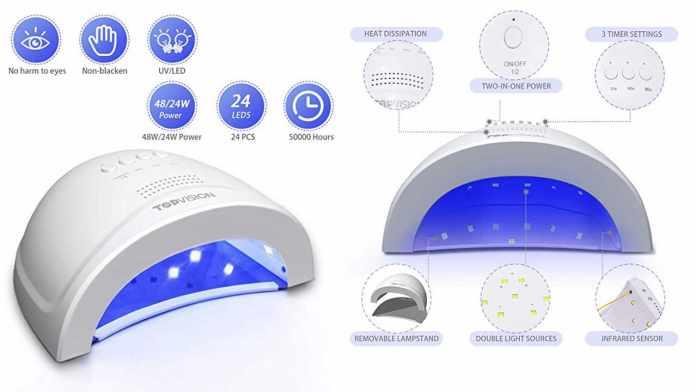 TOPVISION LED Nail Lamp UV Nail Dryer