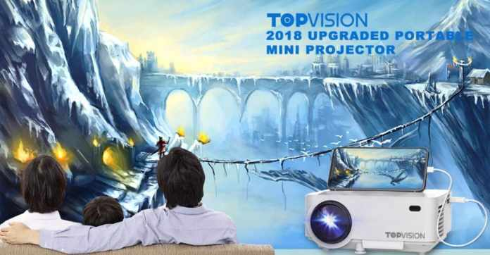 TOPVISION Projector with Synchronize Smart Phone