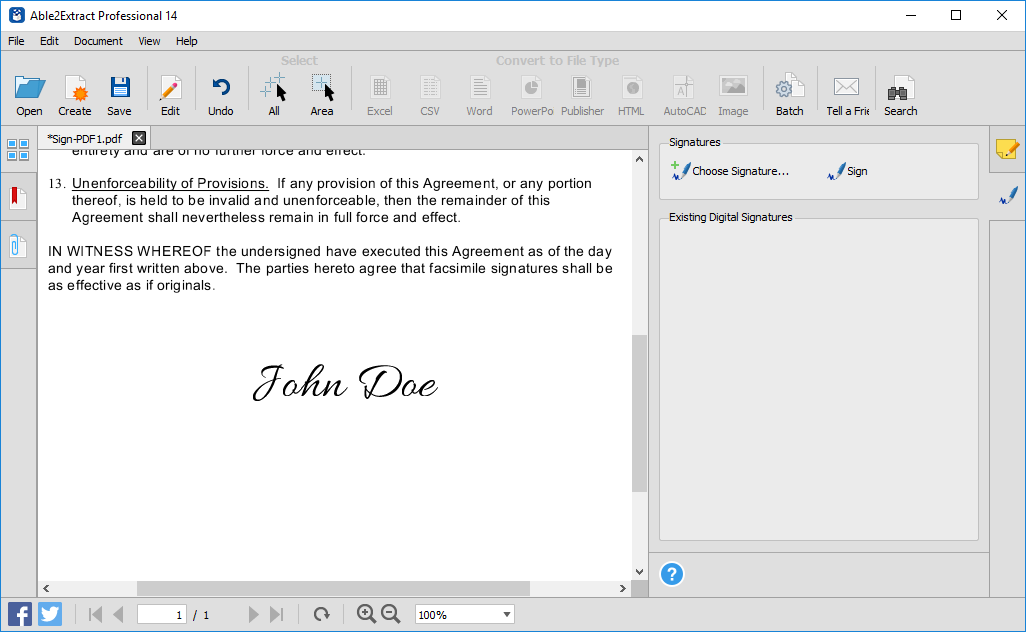 Able2Extract Pro 14 Brings PDF Signatures and AI Conversion 1