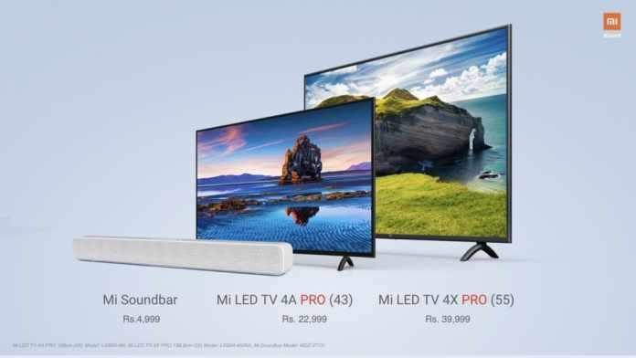 Xiaomi Mi Soundbar and New Mi Smart LED TVs