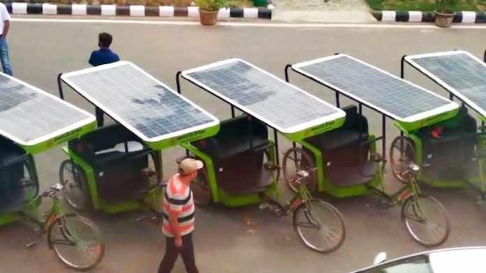 Solar Rickshaw in india