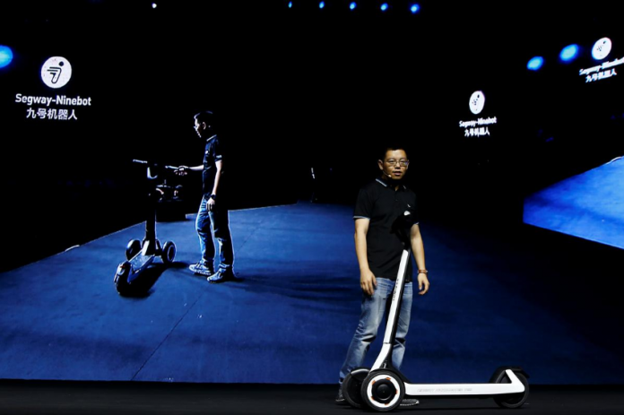 China's Ninebot unveils scooters that drive themselves to charging stations 1