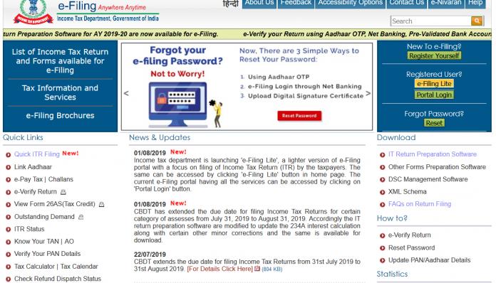 Income Tax Department Launches E-Filing Lite