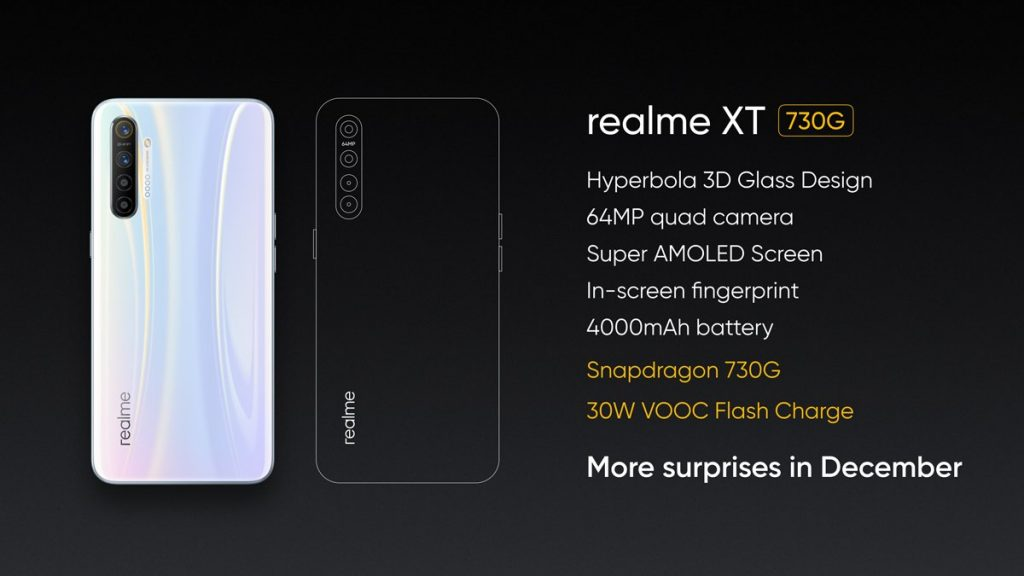 Realme XT 730G to launch in India in December