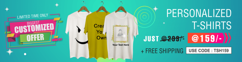 Customized t-shirt offers