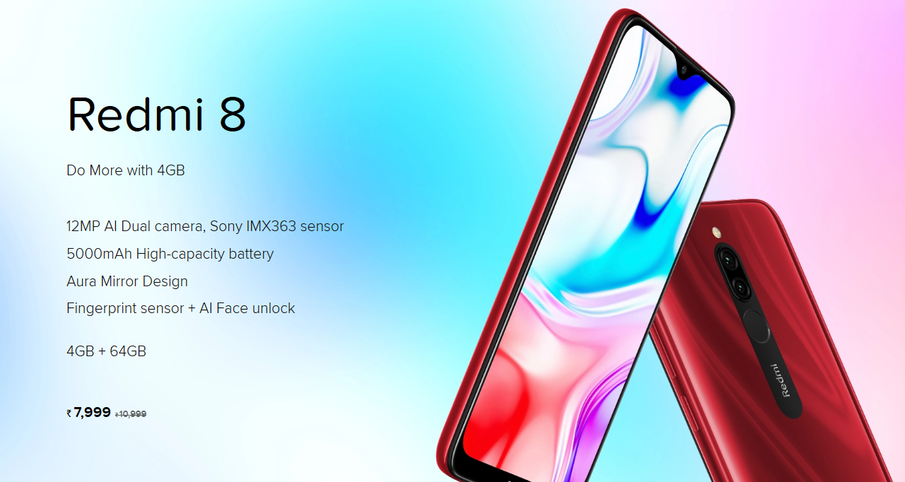 Xiaomi Redmi 8 Launched in India: Price, Specifications