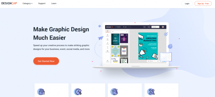DesignCap Review - Design Awesome Graphics For Social Media