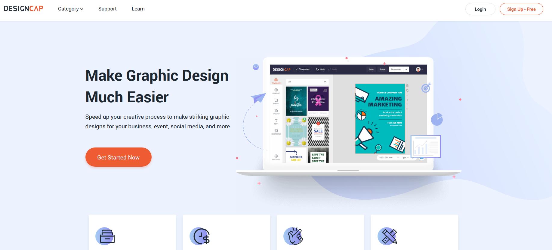 DesignCap Review - Design Awesome Graphics For Social Media