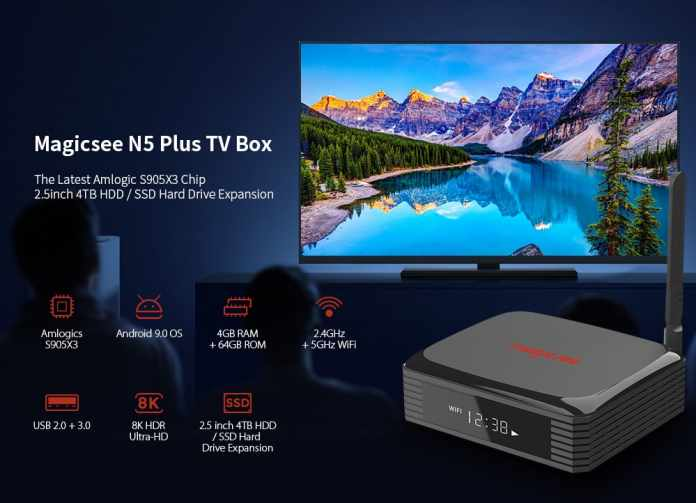 [11.11 Sale] Magicsee N5 Plus TV Box: 4+64GB, For Just $59.99 2
