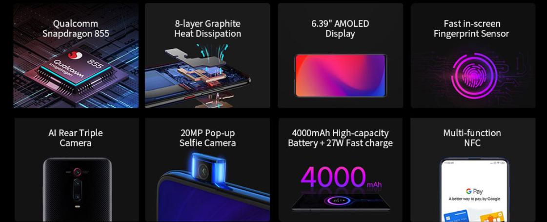 Xiaomi Mi 9T Pro 4G Phablet 6GB RAM 128GB ROM Gearbest