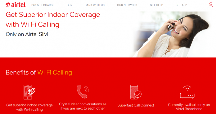 Airtel Launches Airtel Wi Fi Calling India's First Voice Over Wi Fi Service