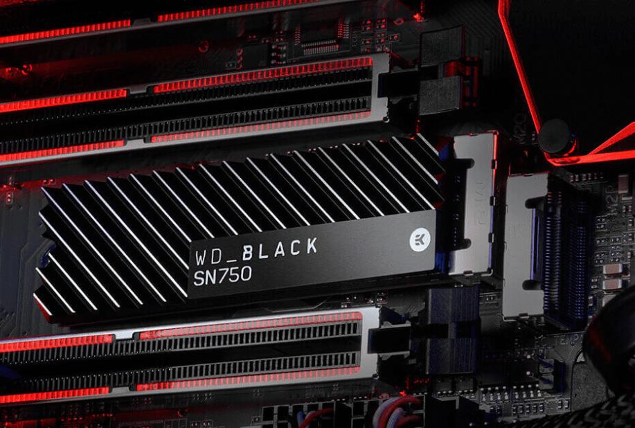 WD Black SN750 NVME SSD with heatsink