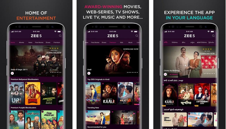 Zee5-best-live-tv-app
