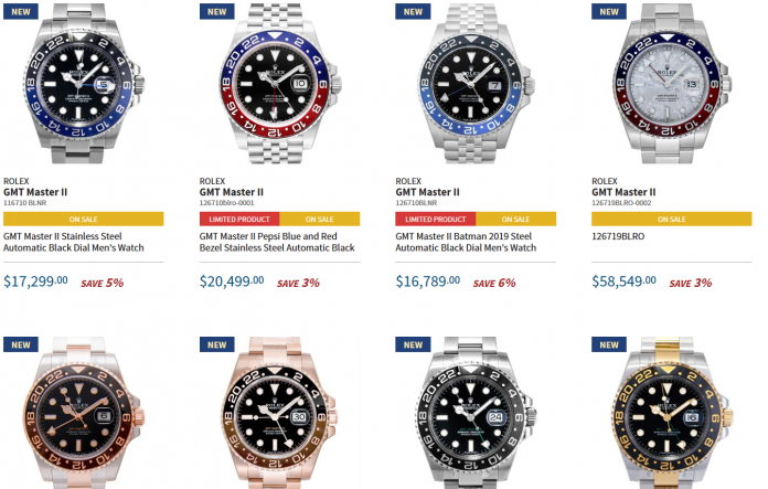 The Rolex GMT Master II Watch Models Online Collection 1