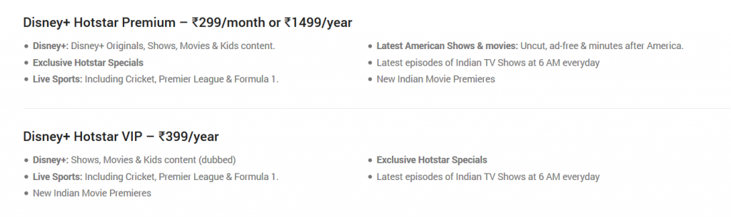 Disney+ Hotstar review plans and price