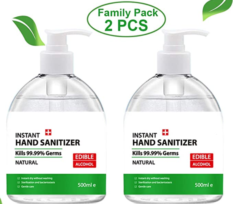 JOSMAX 2PCS 500ML 17 Oz Hand Sanitizer