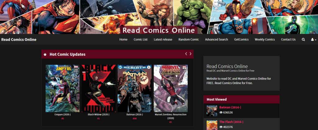 Read Comics Online Home