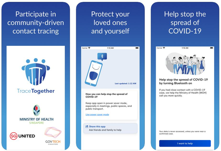 TraceTogether best coronavirus apps