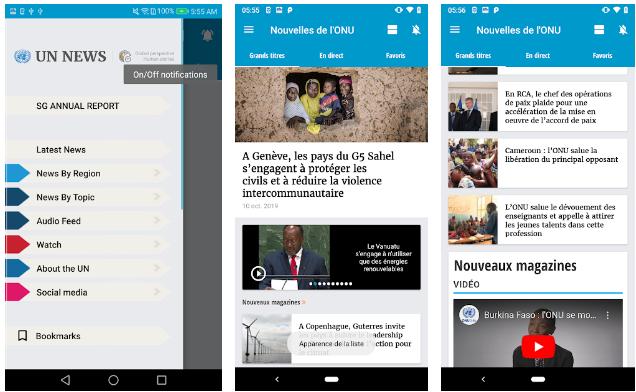 UN News Reader App
