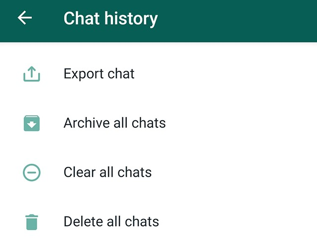 Export WhatsApp chats