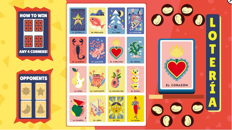 Loteria doodle by google