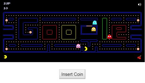 Pacman Doodle by Google