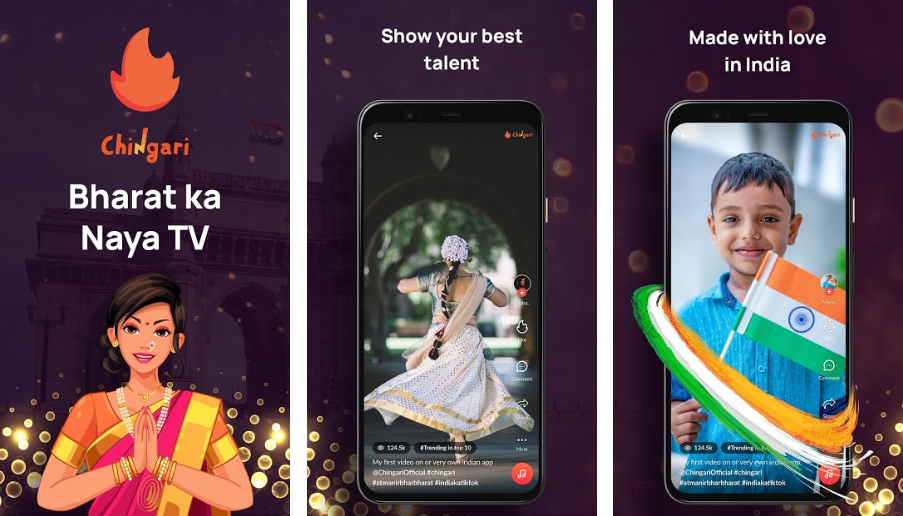 Chingari-best-made-in-india-app-like-tiktok