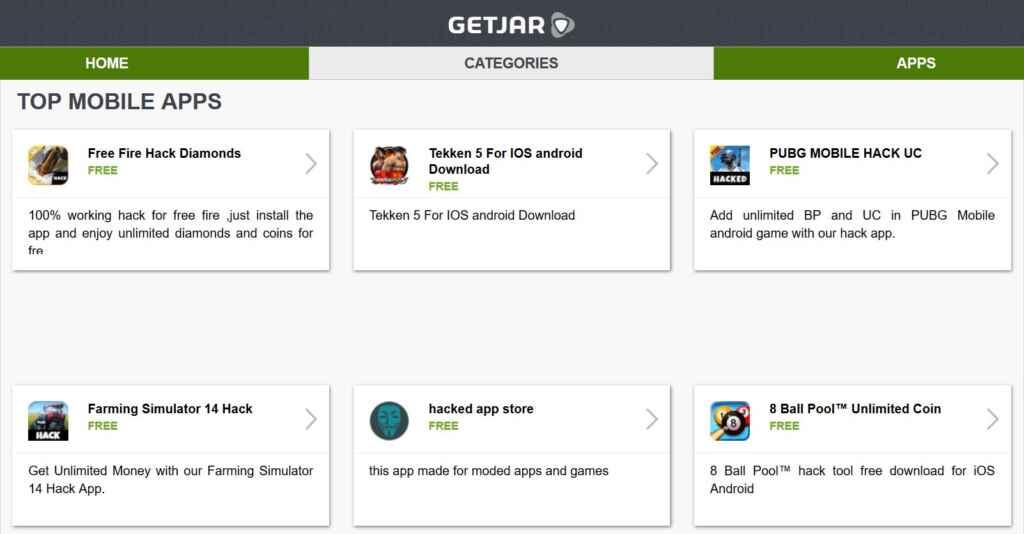 GetJar Google Play Store Alternatives
