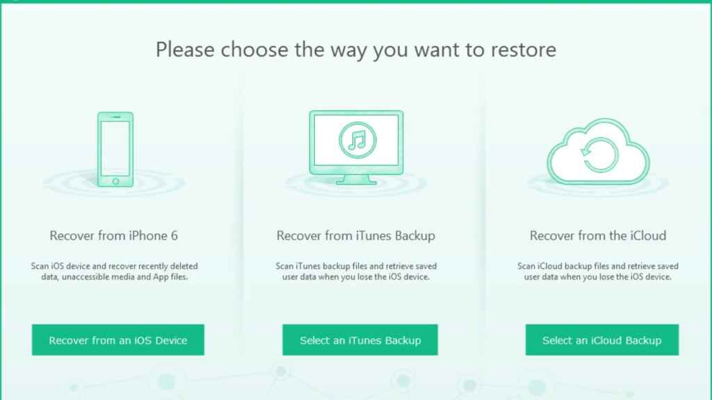 How to recover deleted photos from iPhone with PhoneRescue 1