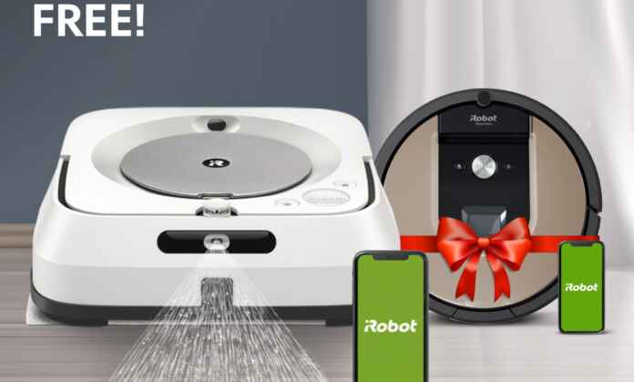 Buy Braava Jet M6 and Get Free iRobot Roomba 971/976 2