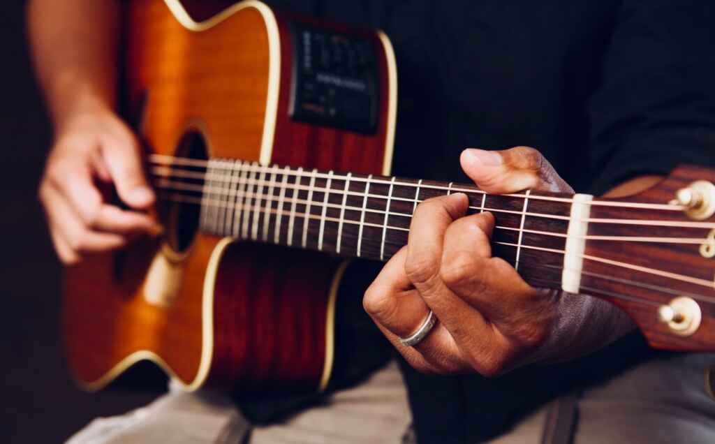 Music Studio To Record Guitar Samples