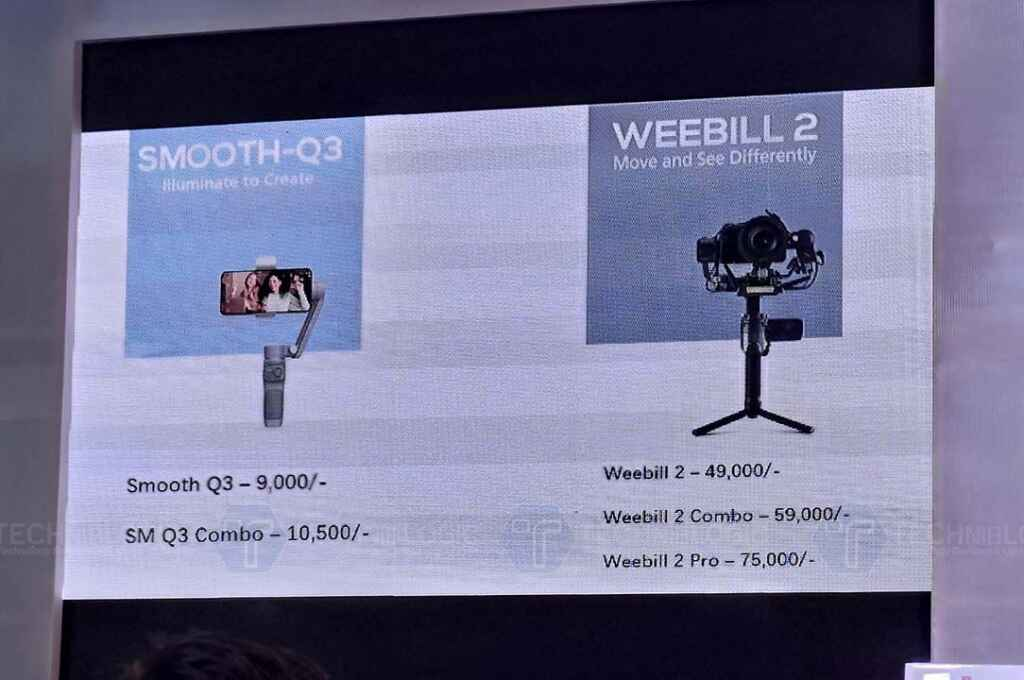 Zhiyun Smooth Q3 and Weebill 2 Gimbals launched in India 12